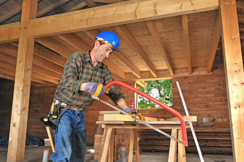 Carpenter man working